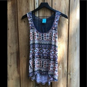 h.i.p.|Tribal Print Tank Top